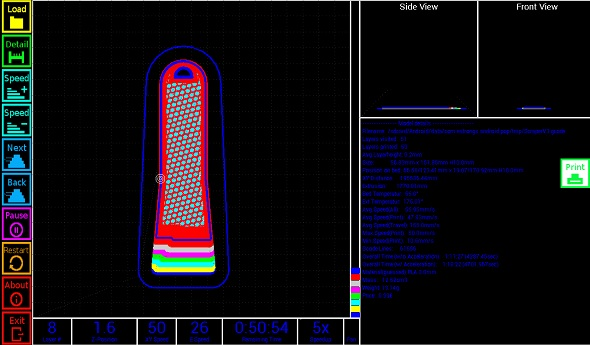 Aplikace nabízí i prohlížeč 3D modelů. Zdroj: http://www.dietzm.de/gcodesim/
