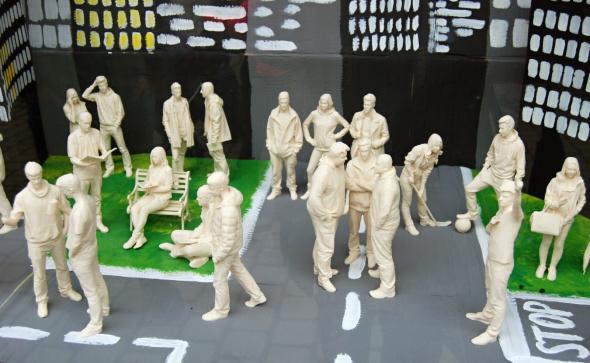Kulisy postavám vytvořili sami studenti VOŠ a SPŠ Šumperk (foto: 3D Johny)