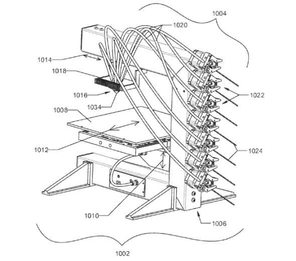 Celkové schéma patentu od Autodesku na vícebarevný tisk (zdroj: 3Dprintingindustry.com)