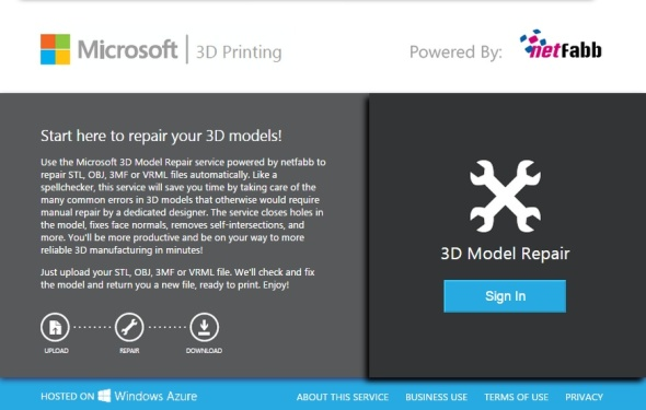 Potřebujete-li opravit 3D model ve formátu STL, OBJ, 3MF či VRML před aditivní výrobou, můžete vyzkoušet bezplatnou službu Microsoft 3D Printing využívající softwaru od Netfabbu