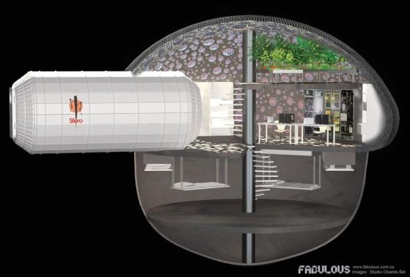 Koncept sází na možnosti aditivní výroby s využitím místních zdrojů (zdroj: Fabulous.com.co)