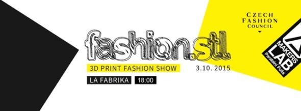 3D Print Fashion Show 2015 se uskuteční v sobotu 3. 10. v pražském centru La Fabrika (zdroj: fashion.stl)