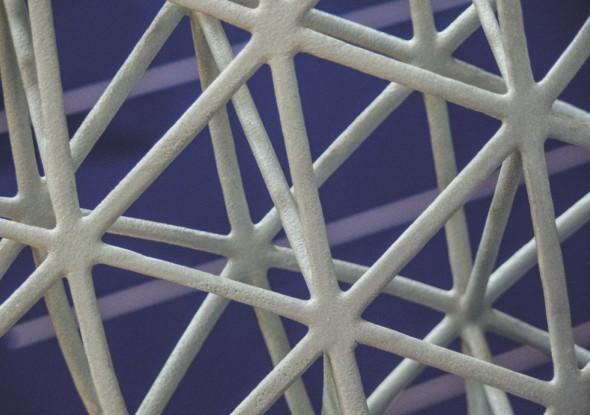 Podpůrná struktura letadlového křídla z laserové tiskárny v expozici FIT Production