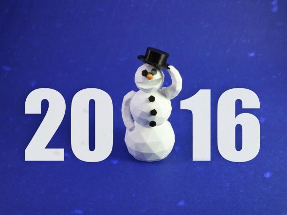 Za redakci 3D-tisk.cz přejeme co nejvíce povedených tisků v roce 2016!