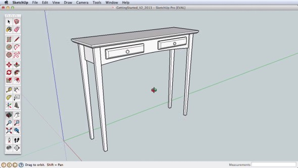 Tvorba jednodušších 3D modelů je ve SketchUpu otázkou okamžiku (obr.: SketchUp)