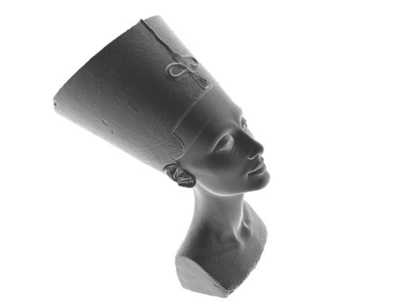 Model staroegyptské královny Nefertiti zaujme jemnými rysy i úrovní detailu (autoři 3D modelu: Jan Nikolai Nelles, Nora Al-Badri)