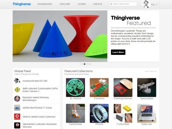 Portál Thingiverse, patřící pod MakerBot, je dnes nejoblíbenějším zdrojem modelů pro 3D tisk