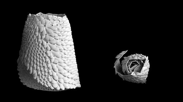 Tisk šatů probíhá ve svinuté formě (foto: Nervous System)