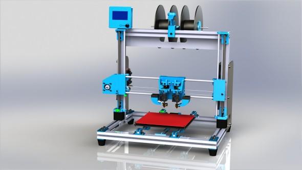 Vizualizace 3D tiskárny Poseidon Duo