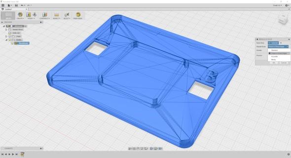 Povrchovou síť 3D modelu importovaného do prostředí Fusion 360 můžete snadno přepočítat dle vybraných pravidel…