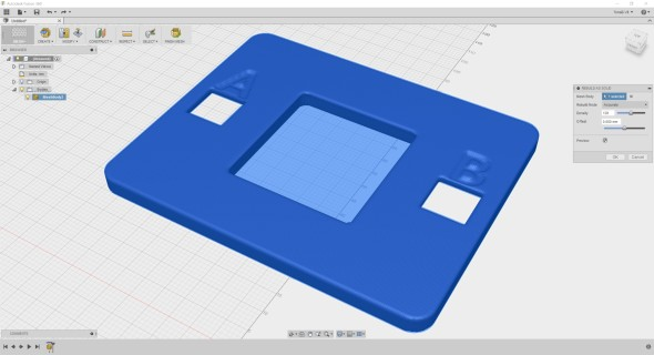 Třeba do sítě spravidelným rozvržením uzlů (náhledový 3D model: Tom's BBC micro:bit Shell V1, thingiverse.com/thing:1692680)