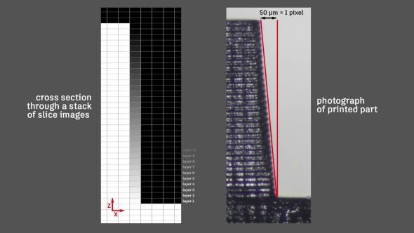 Metoda funguje také po výšce modelu, vpostupných vrstvách. Místo zubatého povrchu tak lze dosáhnout hladkého sklonu (zdroj: Autodesk)