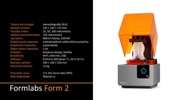 Přehled technických parametrů 3D tiskárny