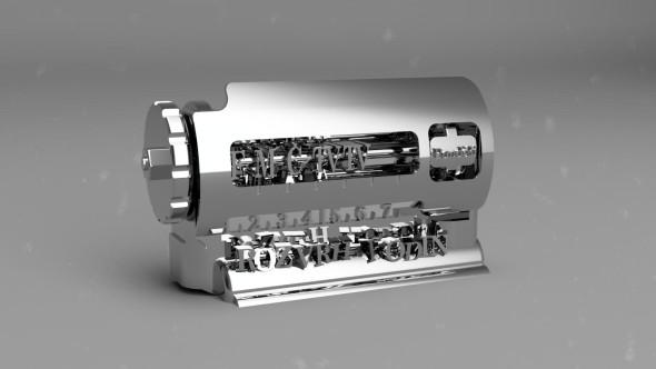 Mechanická sestava rozvrhu hodin (autor 3D modelu: Vlastimil Kučera)