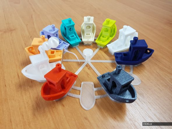 Model: Tom's 3DBenchy rudder stand V2 (12 ships) • autor: Tomáš Vít • licenceCC BY-NC-SA 3.0