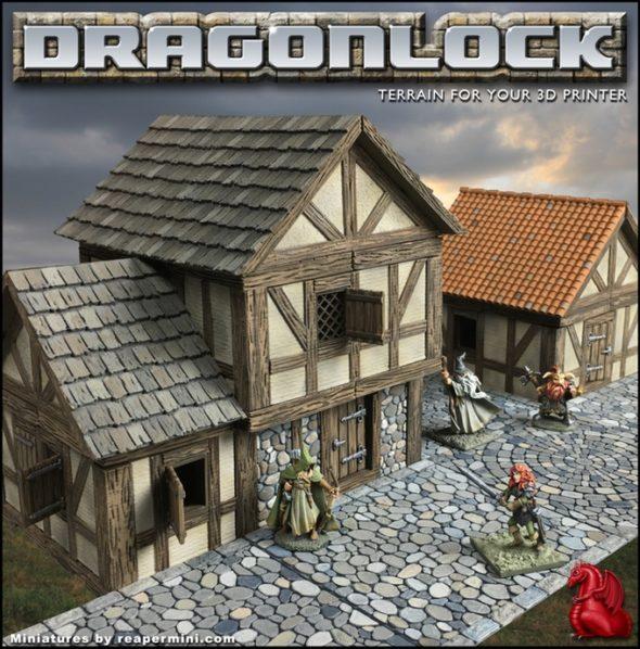 Druhá generace modulárního systému Dragonlock 2 vznikla i díky podpoře fanoušků na Kickstarteru, přesouvá hráče z podzemí do kulis středověkých měst (foto: Tom Tullis via Kickstarter)