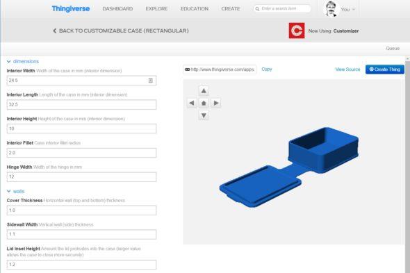 Snadným upravováním parametrů si můžete přizpůsobit třeba oblíbenou krabičku z portálu Thingiverse