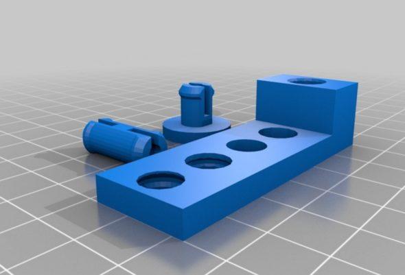 Jak si s tolerancemi rozebíratelného spoje poradí vaše tiskárna, prozradí třeba sada Pin Connectors V2 (autor modelu: Tony Buser • licence: CC BY-SA 3.0 • obrázek: Thingiverse)