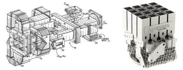 Jak zmenšit 100dílnou sestavu antény do jediného 3D výtisku z kovu, ukázal tým Optisys