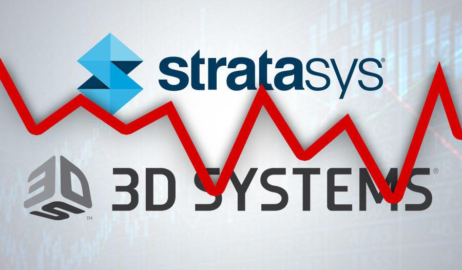 Lídři trhu se 3D tiskem se potýkají se ztrátami – 3D Systems ani Stratasys nerostou, jak by si přáli